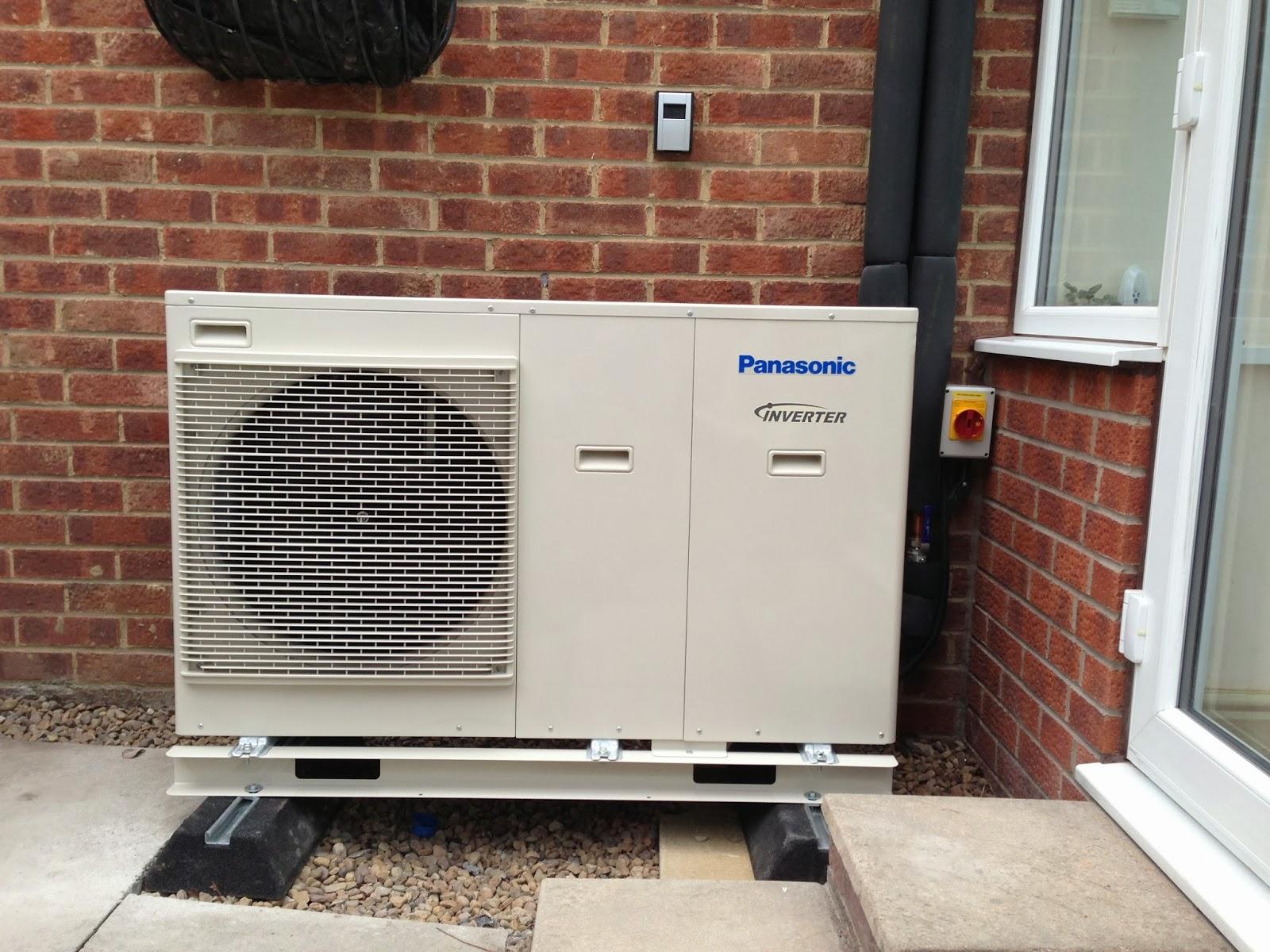 panasonic heat pump installed outside